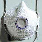 balts respirators ar vārstuli darba drošībai