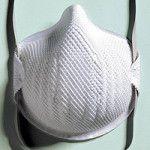 balts respirators bez vārstuļa darba drošībai