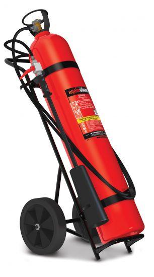 Sarkans ogļskābās gāzes ugunsdzēsības aparāts garens