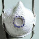 balts respirators ar vārstuli darba drošībai 2