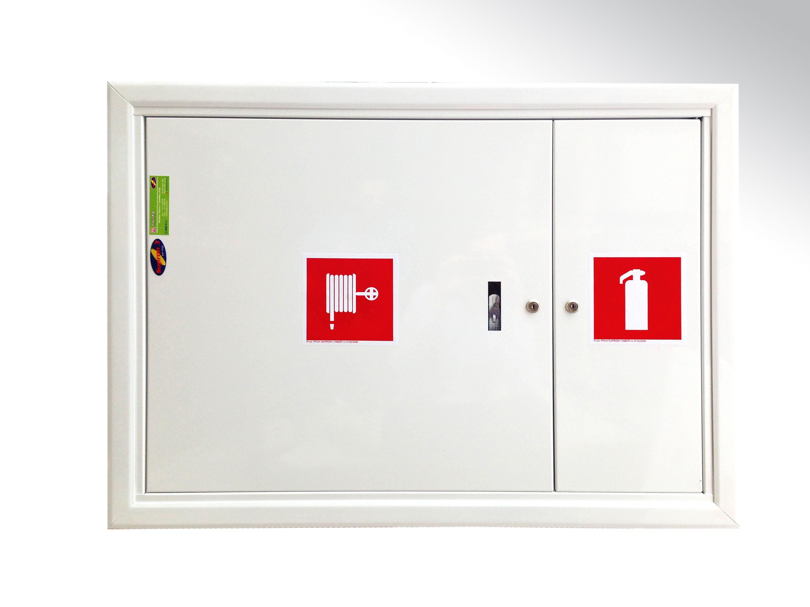 Balta ugunsdzēsības krānu kaste ugunsdrošības inventāram 1