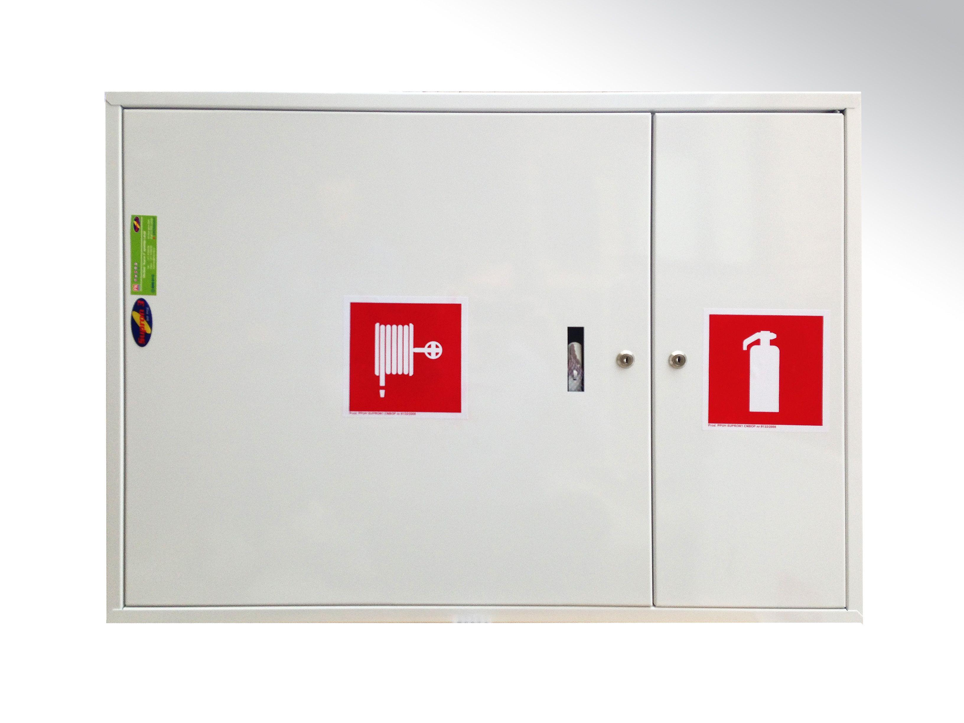Balta ugunsdzēsības krānu kaste ugunsdrošības inventāram 2