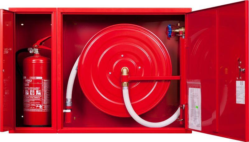 Sarkans ugunsdzēsības krānu kastes cietais komplekts