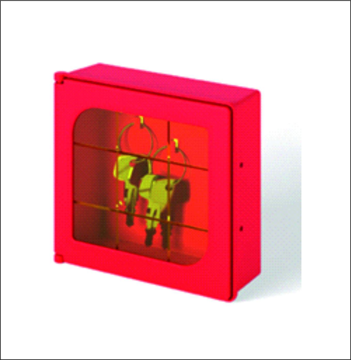 Sarkana stiklota plastmasas atslēgu kastīte