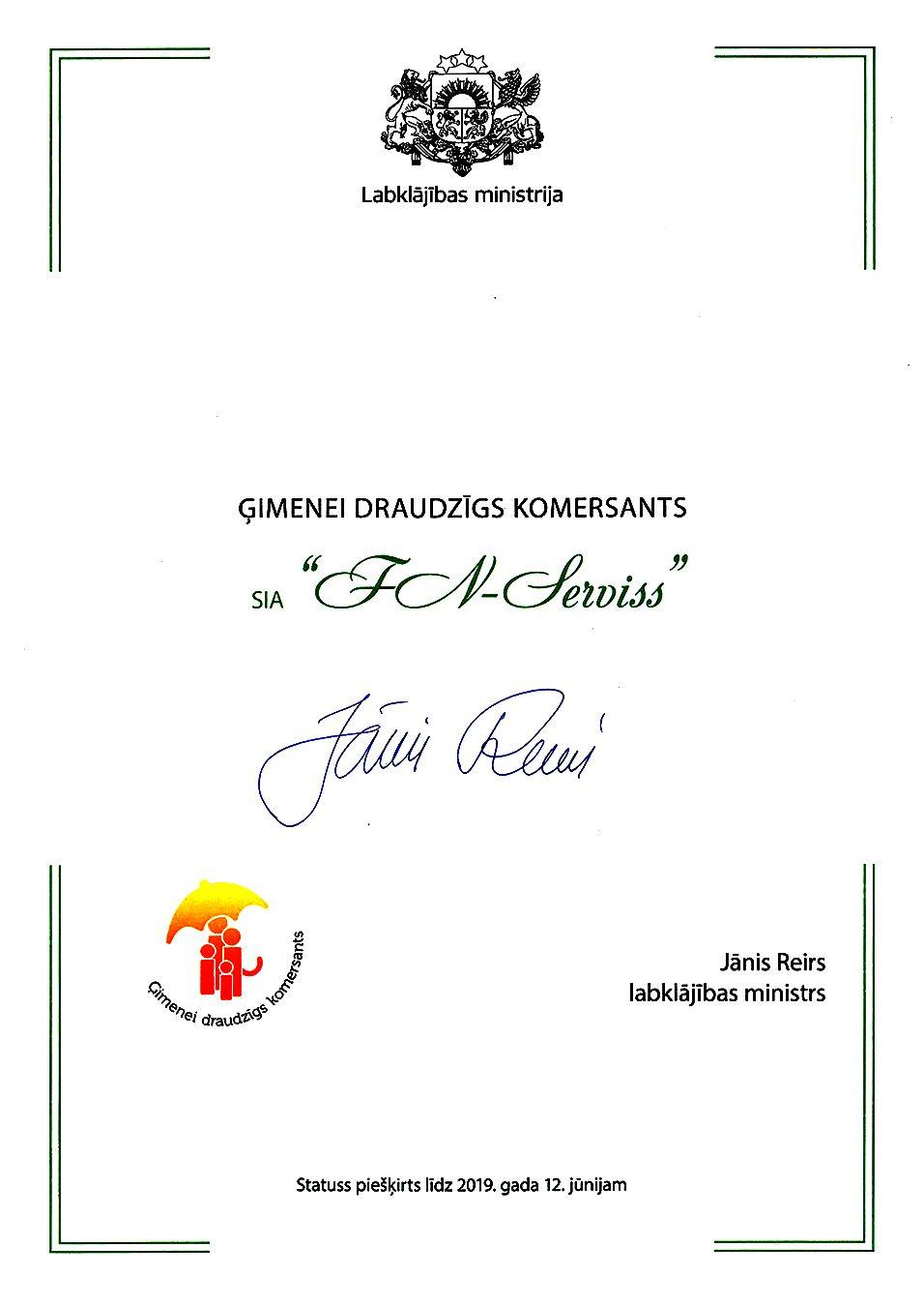 Lapa bronzas apbalvojums ilgtspējas indeksā diploms