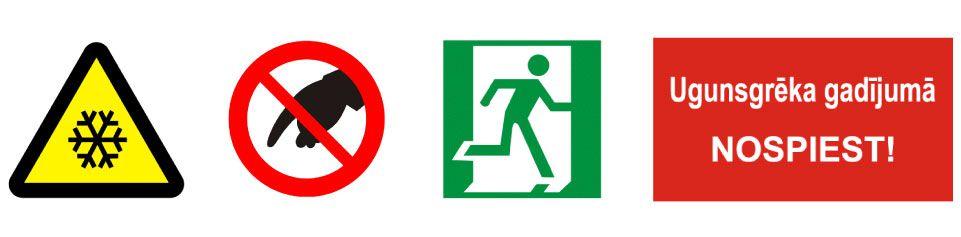 Četras darba drošības zīmes