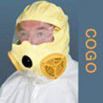 dzeltena vienreizējas lietošanas dūmu evakuācijas maska