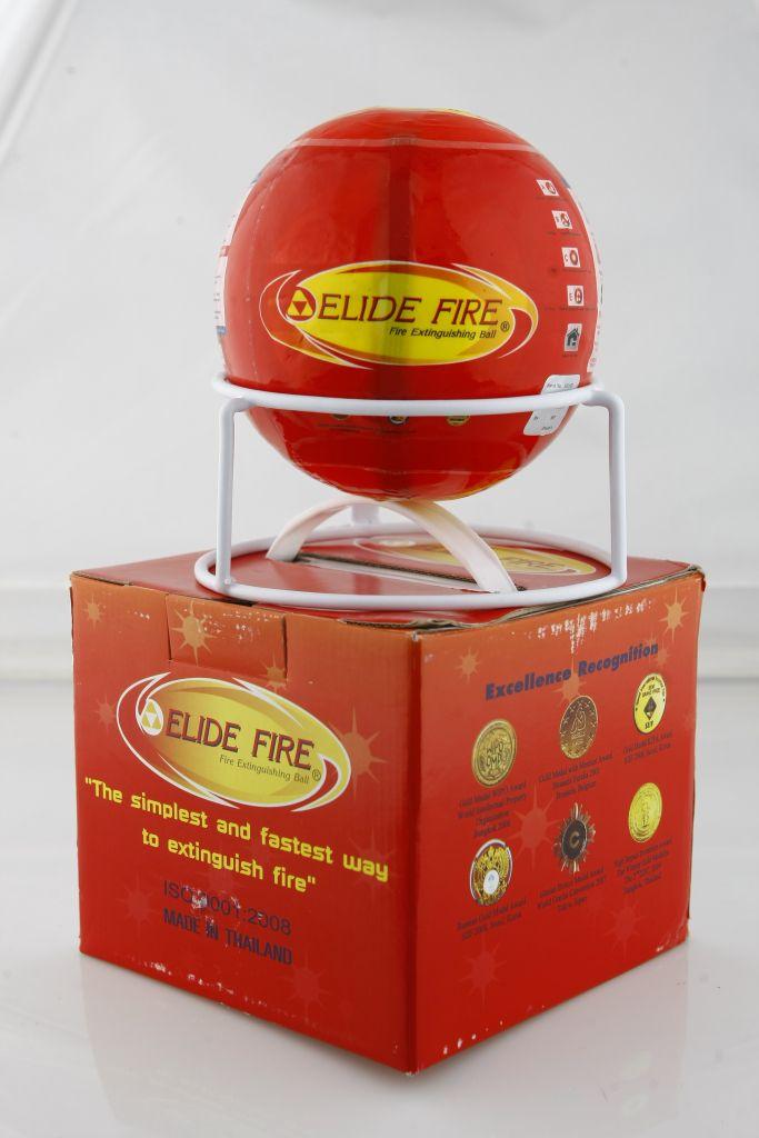 Sarkana ugunsdzēsības bumba elide kastīte