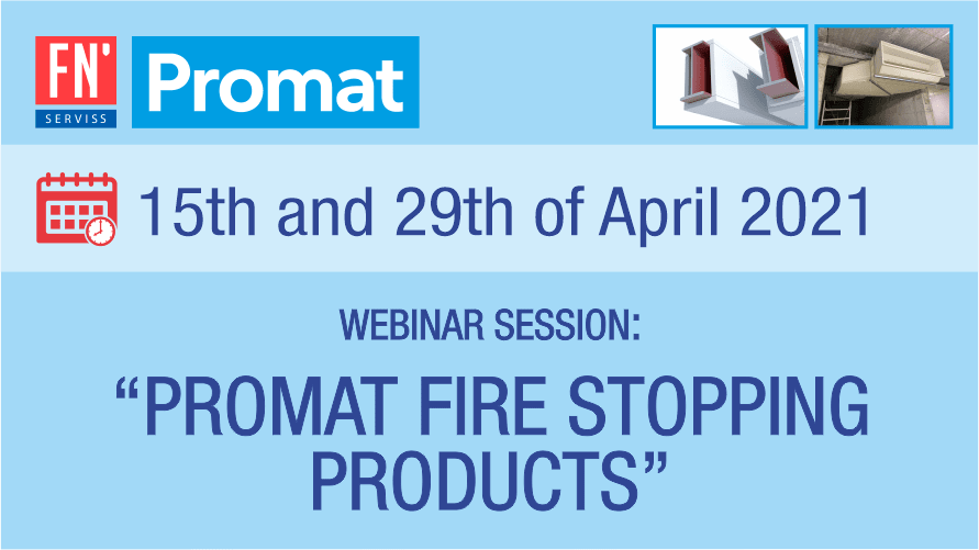 Promat webinar about passive fire safety solutions April 2021