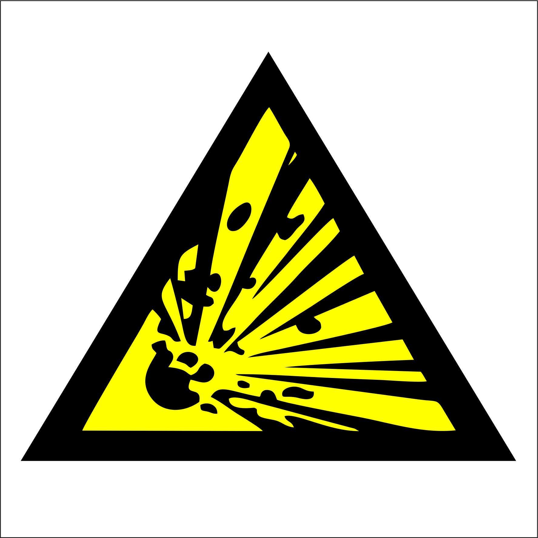Dzeltena uzlīme degoša viela ugunsbīstama telpa