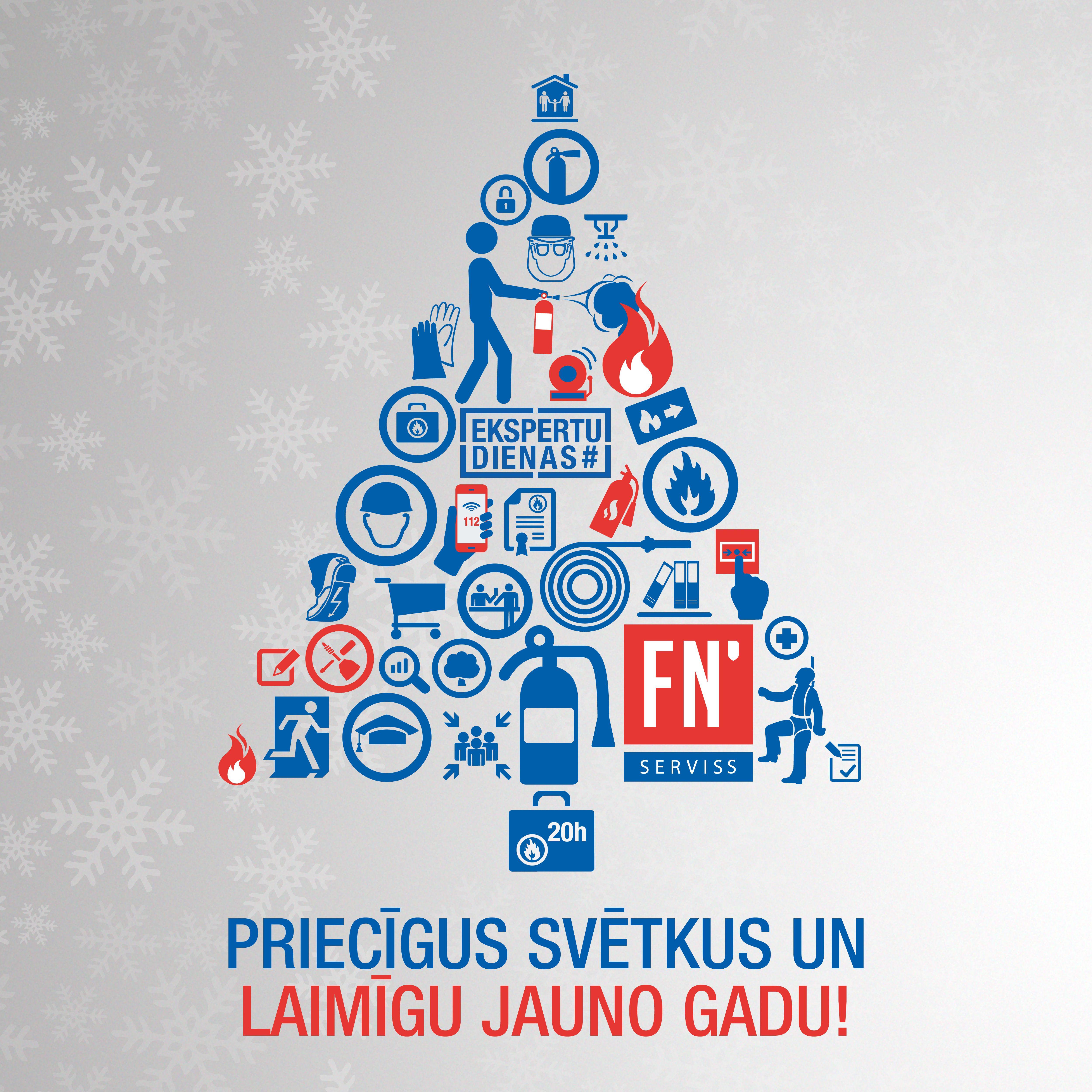 Apsveikums ziemassvētkos un jaunajā gadā kartiņa