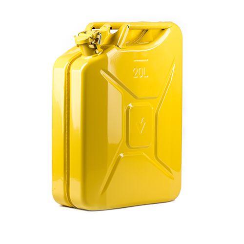 Dzeltena degvielas kanna