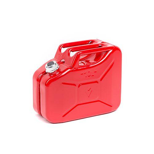 Sarkana degvielas kanna ar skrūvējamu vāku 10