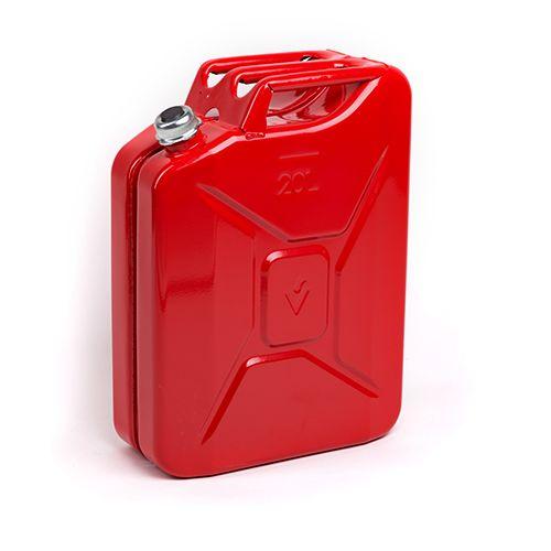 Sarkana degvielas kanna ar skrūvējamu vāku 20