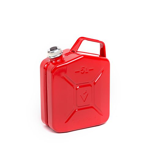 Sarkana degvielas kanna ar skrūvējamu vāku
