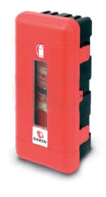 Ugunsdzēsības inventāra izvietošanu objektā sarkana kaste