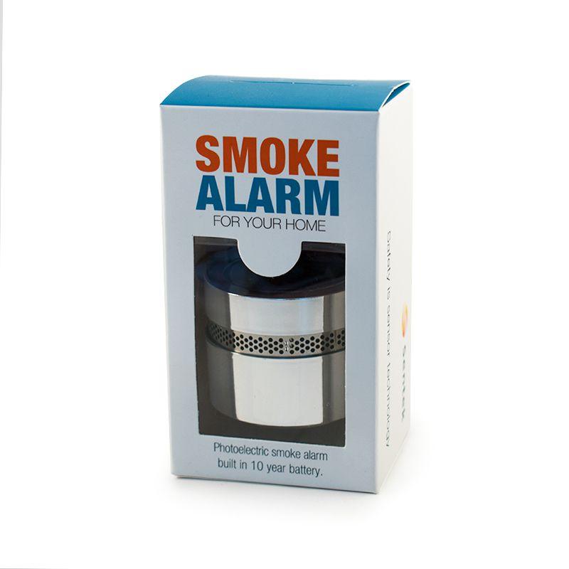 Sudraba mini lokālais dūmu detektors kastītē