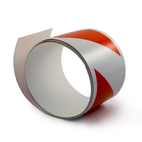 Sarkanbalta fotoluminiscējoša lente sarkanbalta