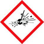 brīdinājuma uzlīme eksplozīva viela sprādzienbīstama telpa