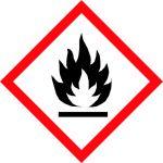 brīdinājuma uzlīme degoša viela ugunsbīstama telpa