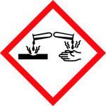 balta informatīva brīdinājuma uzlīme kodīga viela