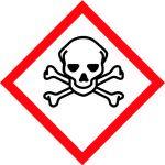 balta informatīva brīdinājuma uzlīme toksiska viela