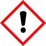 Balta informatīva brīdinājuma uzlīme - Vispārīga bīstamība!