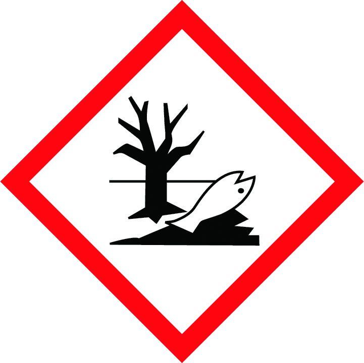 balta informatīva brīdinājuma uzlīme bīstami videi