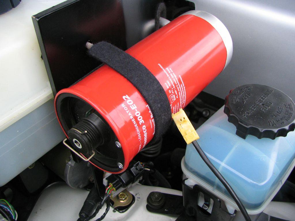 Lapa auto transporta motortelpu automātiskā ugunsaizsardzība
