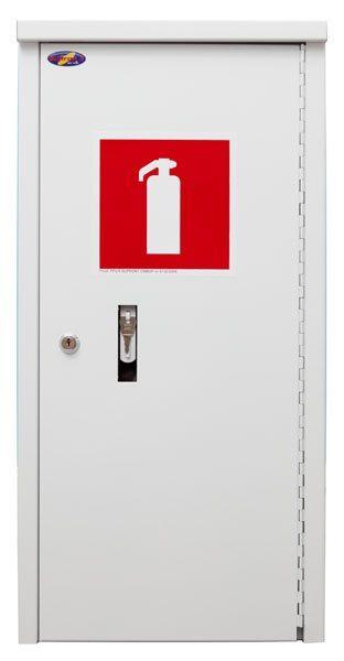 Balta kaste ugunsdzēsības aparāta uzglabāšanai