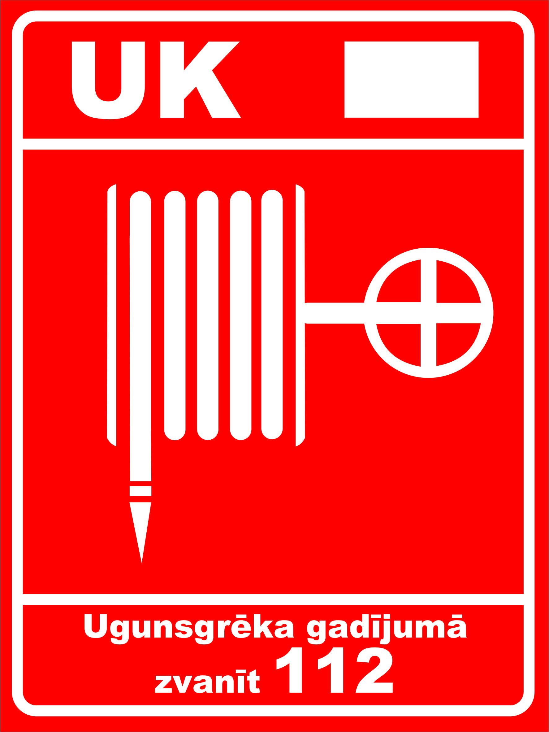 Sarkana uzlīme ugunsdzēsības krāns 2