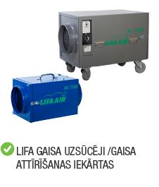 Kategorija lifa gaisa uzsūcēji un attīrītāji