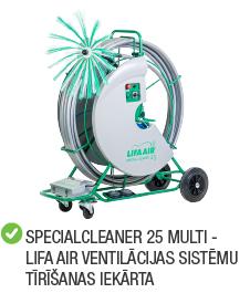 Kategorija lifa ventilācijas sistēmu tīrīšanas iekārtas