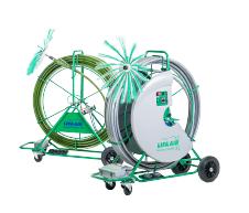 LIFA AIR iekārtas ventilācijas kanālu un razošanas procesu cauruļvadu tīrīšanai
