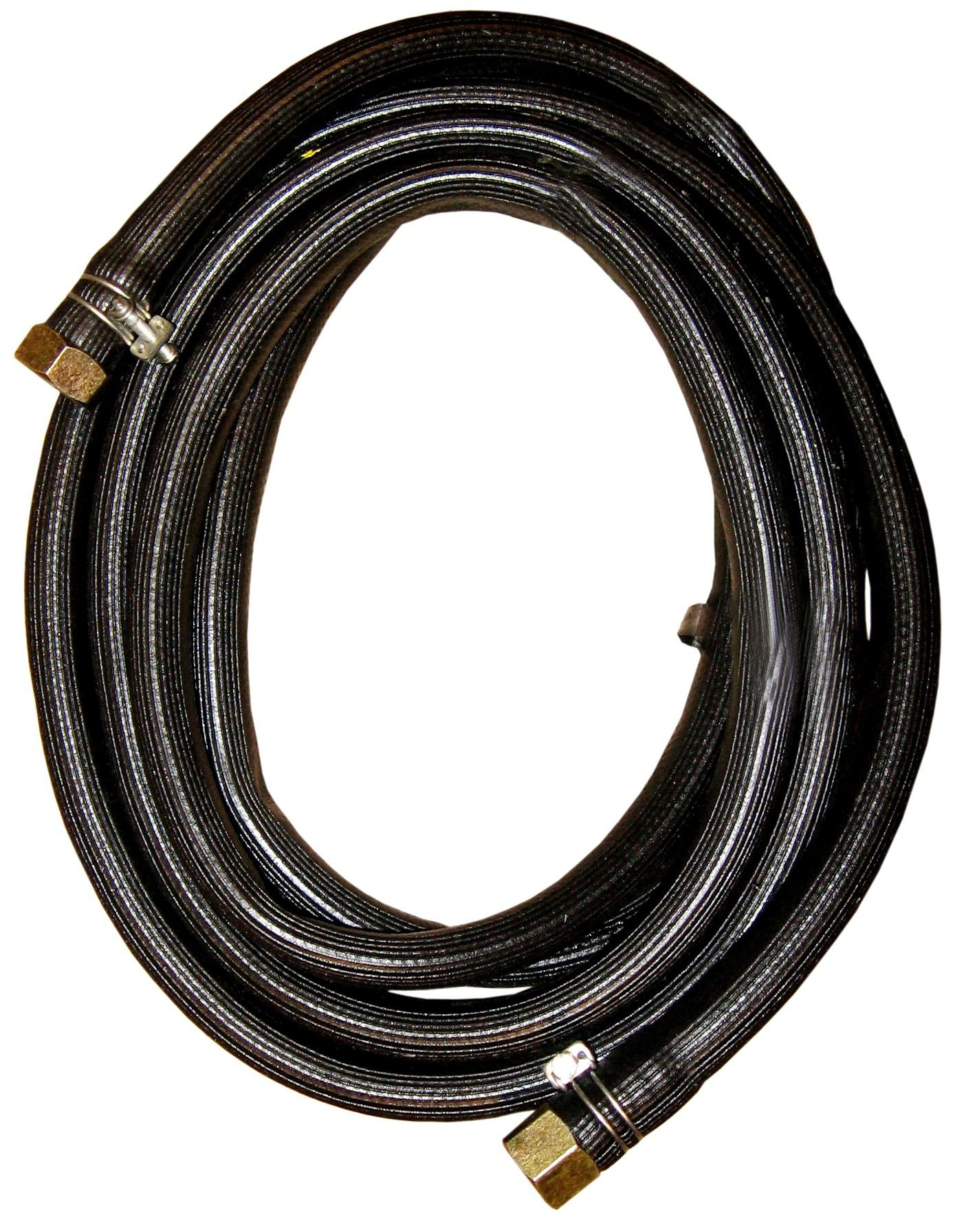 melna pulvera ugunsdzēsības aparāta šļūtene