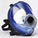 zila sejas silikona gāzmaska darba drošībai