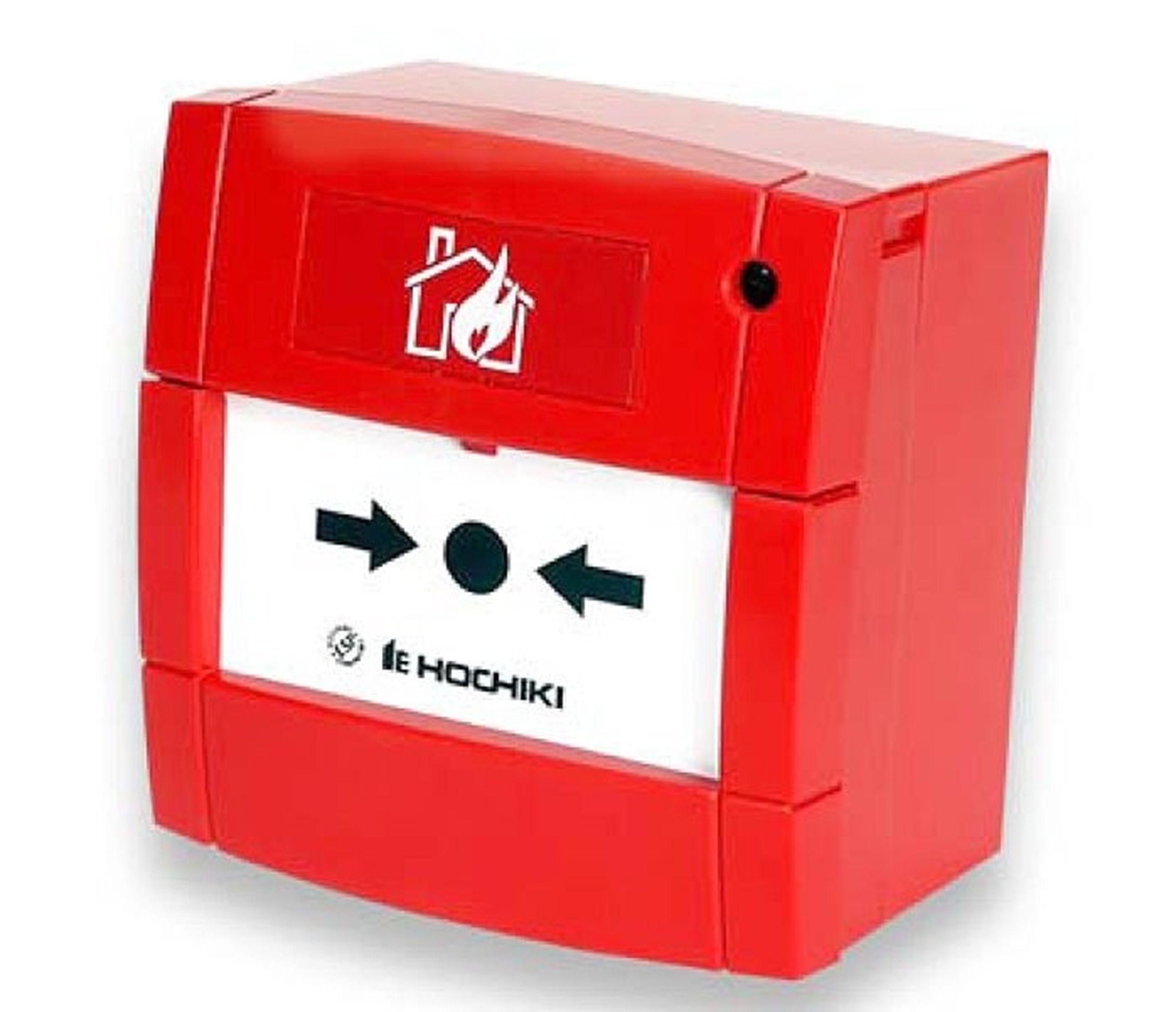 Sarkana ugunsdrošības trauksmes pogas kastīte