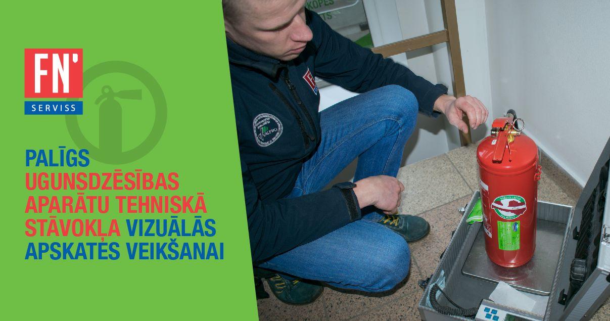 Lapa ugunsdzēsības aparātu stāvokļa apskates veikšana