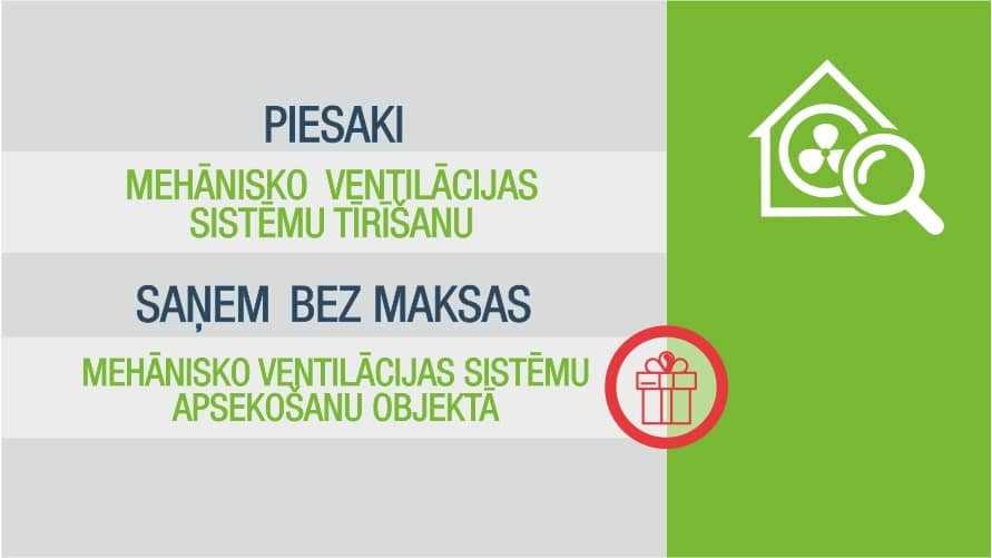 Īpašais piedāvājums pakalpojumiem janvārī - Mehānisko ventilāciju sistēmu tīrīšanai