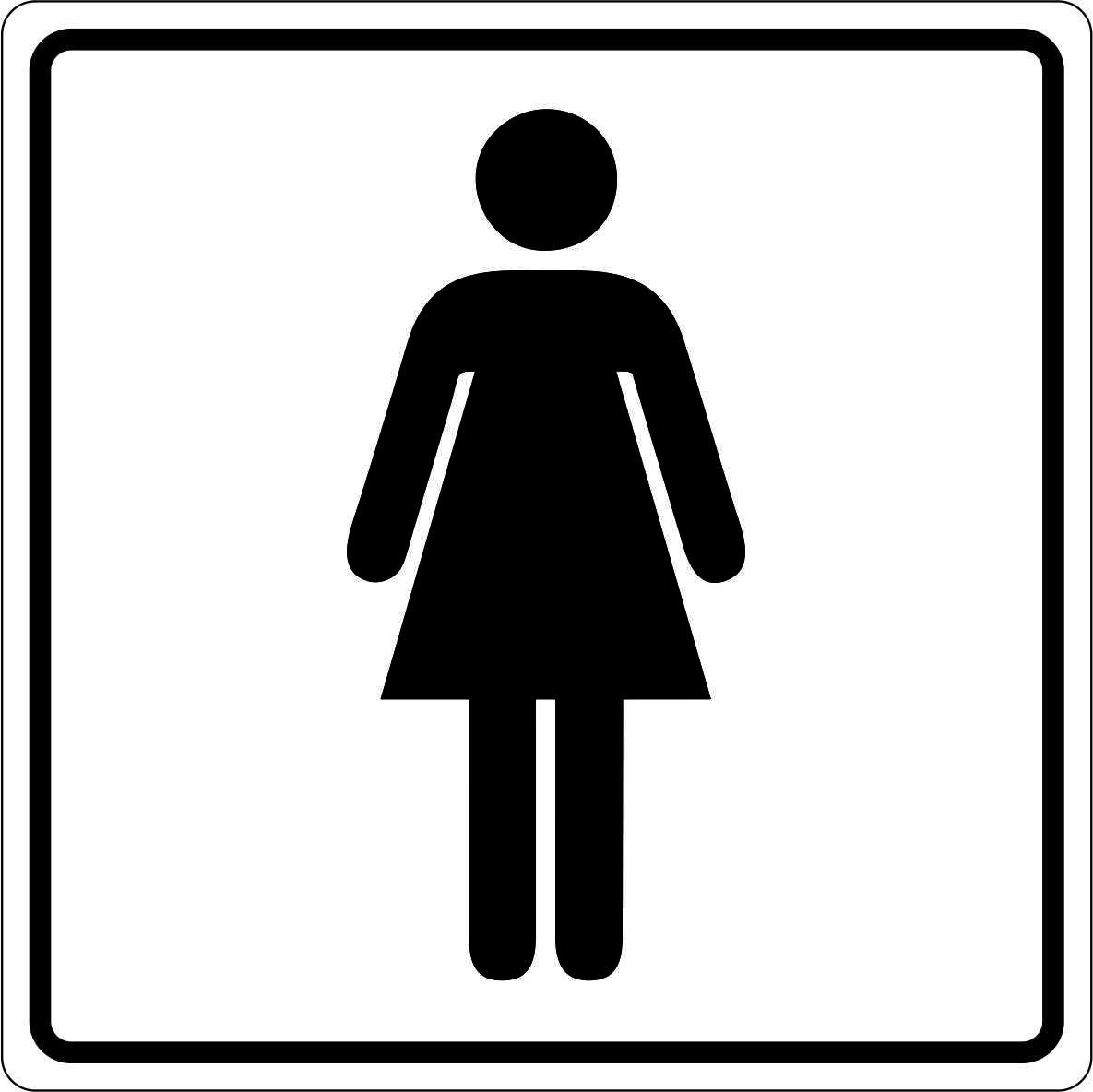 Melnbalta uzlīme wc dāmām