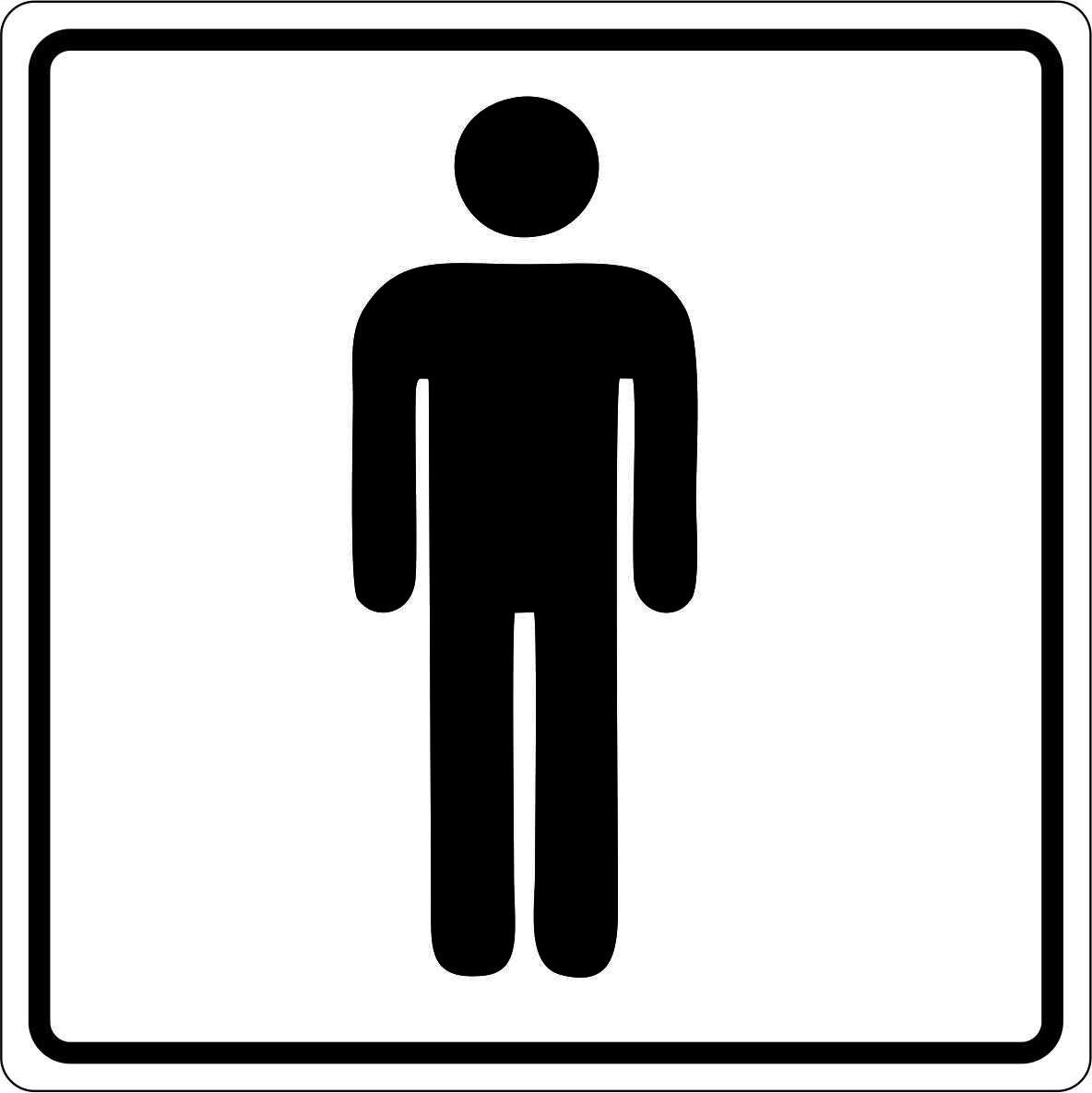 Melnbalta uzlīme wc kungiem