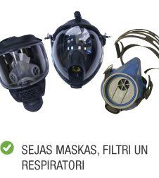 Produktu kategorija aizsardzības līdzekļi maskas resperatori