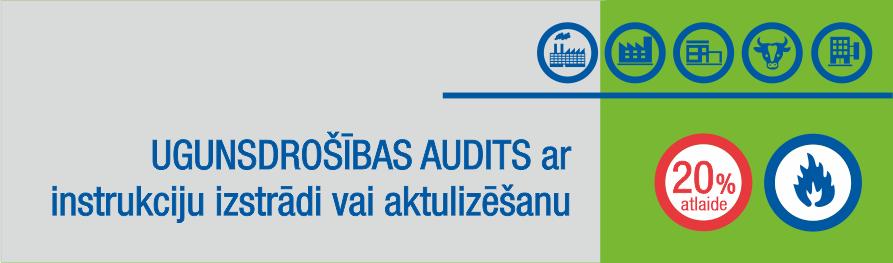 Īpašais piedāvājums novembrī - Ugunsdrošības audits ar instrukcijas izstrādi/aktualizēšanu - 20% atlaide