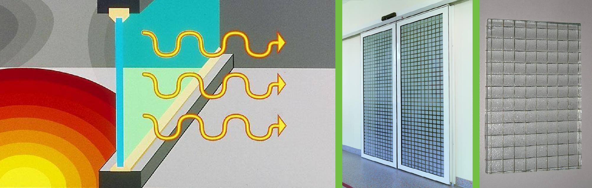 Ugunsdrošo stikla konstrukciju drošība termo zīmējums
