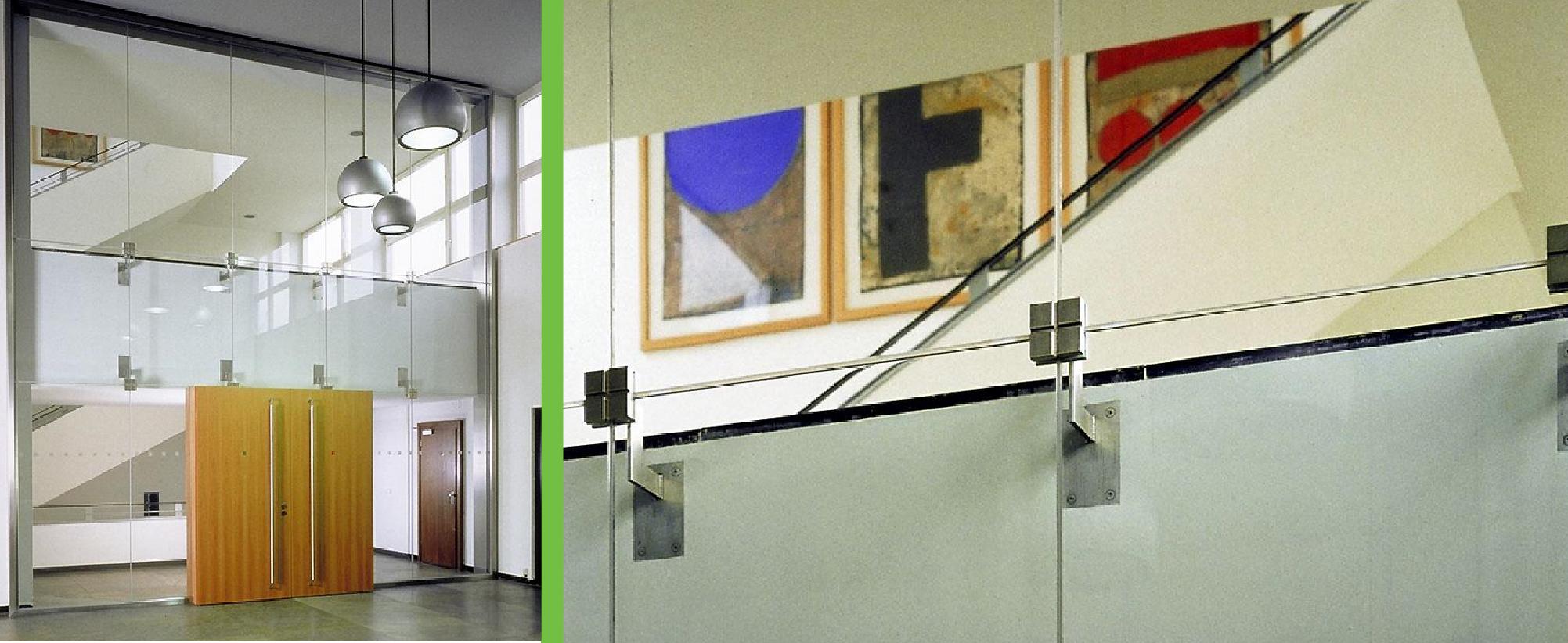 Ugunsdrošo stikla konstrukciju drošība stiklu savienojumi