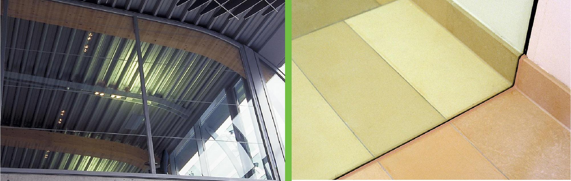 Ugunsdrošo stikla konstrukciju drošība griesti grīda