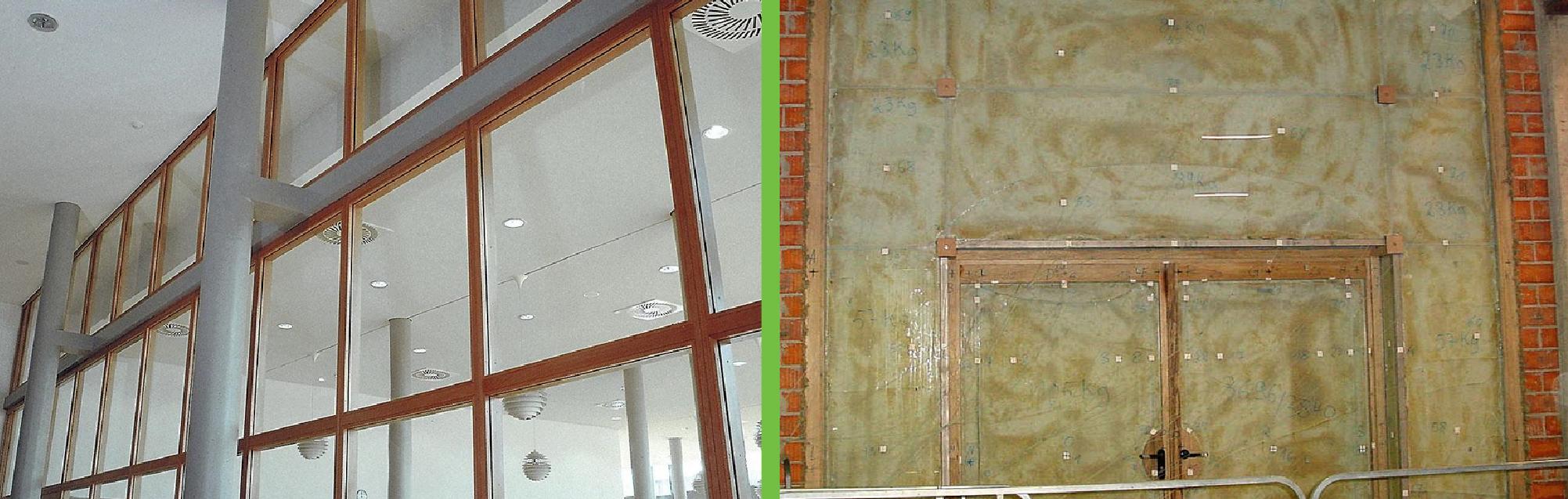 Ugunsdrošo stikla konstrukciju drošība logi