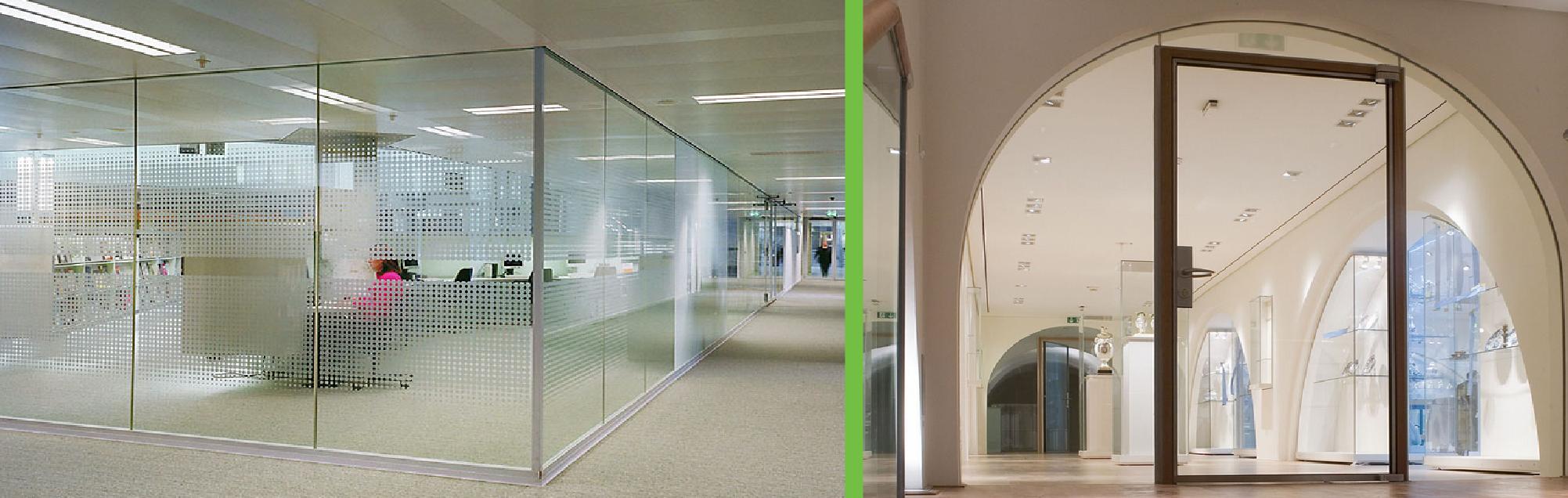 Ugunsdrošo stikla konstrukciju drošība durvis