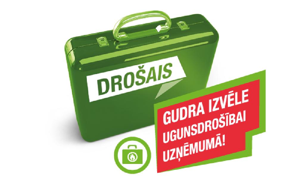 Zaļš drošais koferis ar ikonu