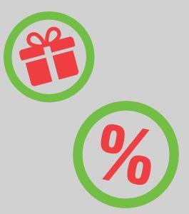 Sarkanas ikonas dāvanas procenti
